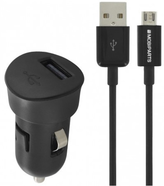 Mobiparts USB car charger 1A micro usb