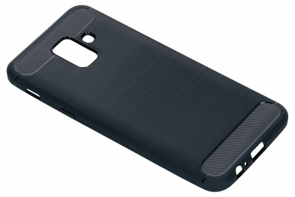 Zwart Brushed TPU Case Samsung Galaxy A6