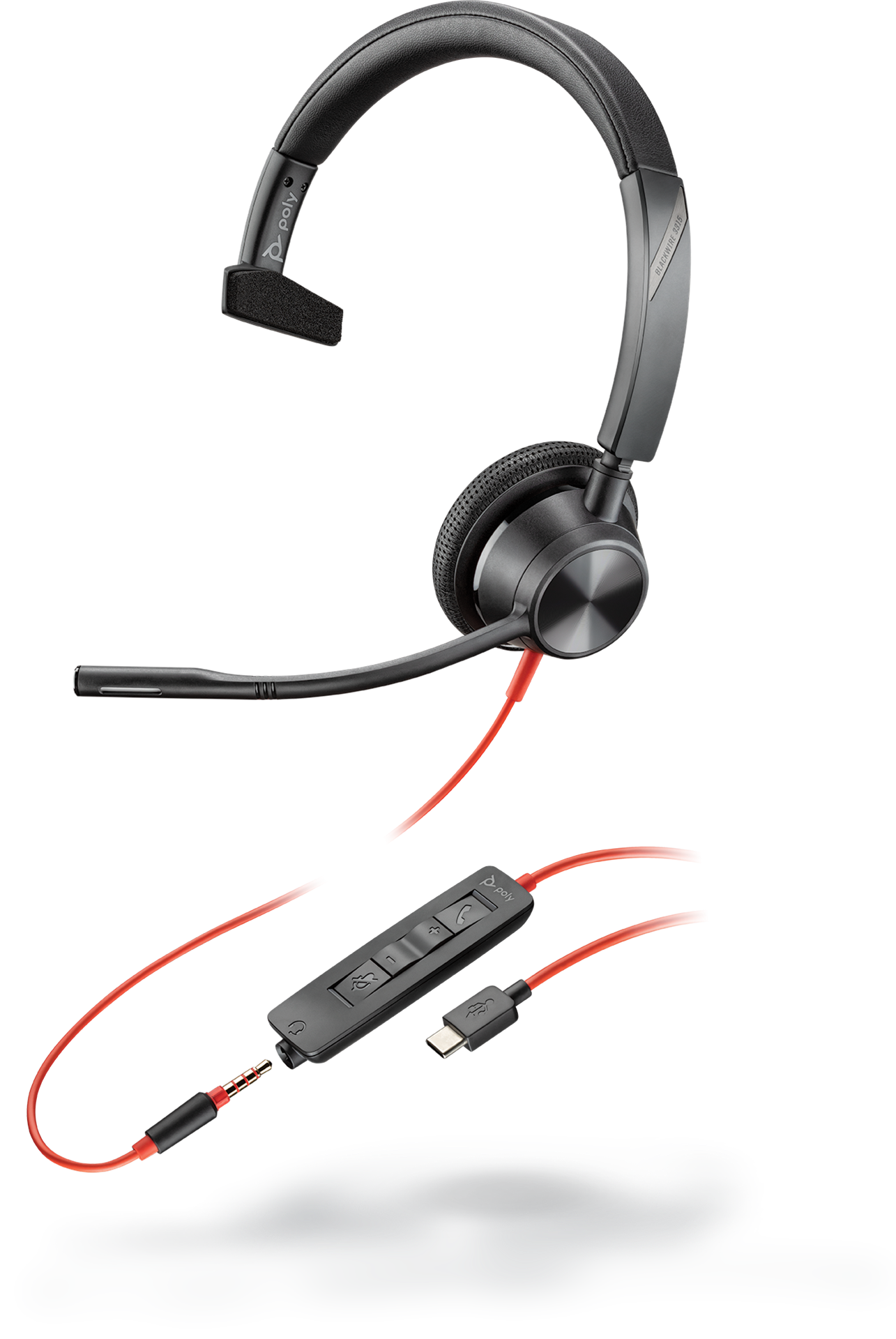 Poly Blackwire 3315-M USB-C, mono headset